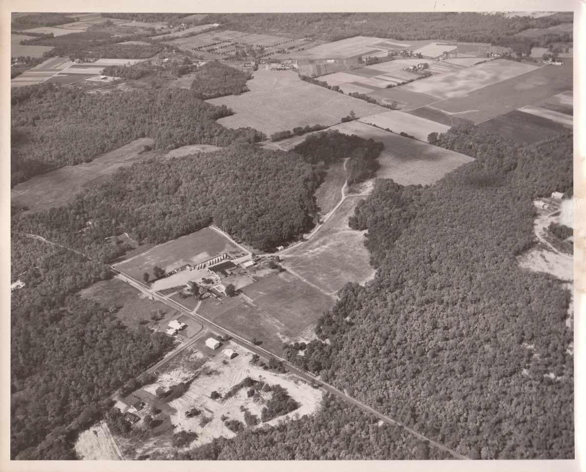 Old aerial view of the bus property