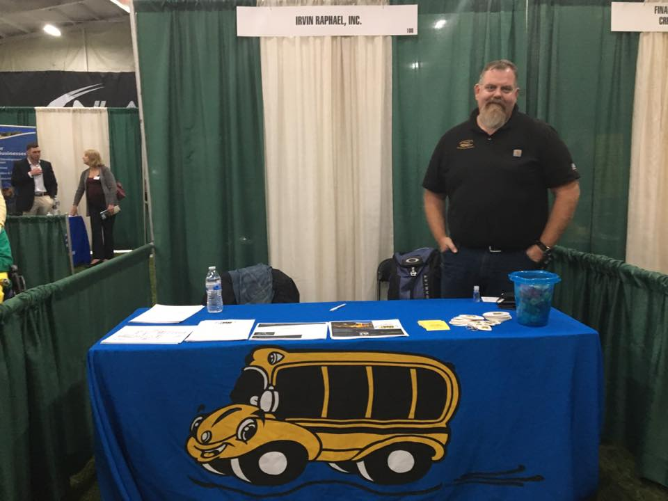 Our stand at the Hunterdon County Chamber of Commerce Bus Expo.